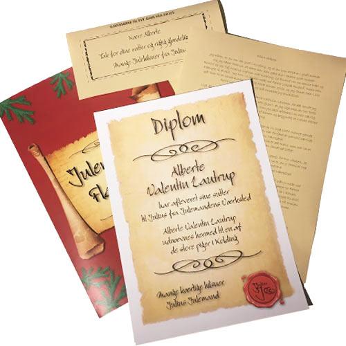 Tak ford dine sutter diplom med personligt brev fra julemanden