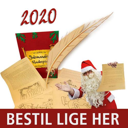 Bestil Julemandens Flaskepost - 24 personlige breve fra selveste Julemanden