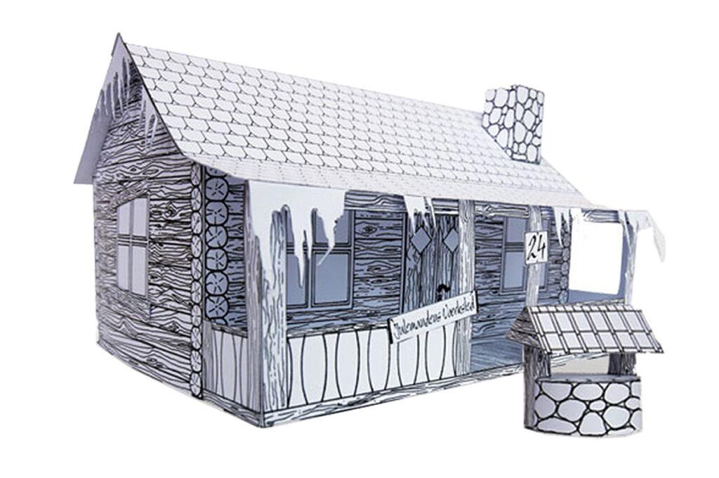 Julemandens Hus i 3D model fra Julemandens Værksted